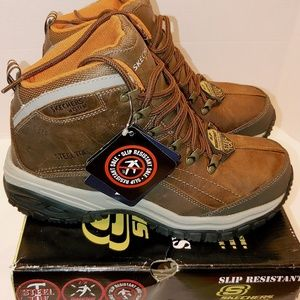 Skechers men's Aggressor steel toe Work Boots NIB